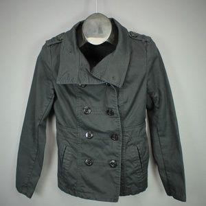 &M Divided Jacket Size 12 Black Womens Peacoat